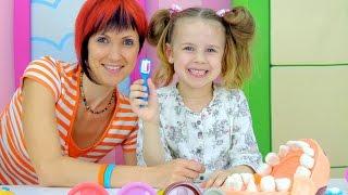 Пластилин Плей До. Видео для детей. Toys: Набор ДОКТОР ЗУБАСТИК.  Маша, Ксюша лечат зубы(, 2015-06-24T04:09:06.000Z)