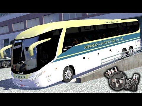 Euro Truck Simulator 2 - Viação Cometa - Flecha Azul - Suspensão a ar - Com Logitech G27