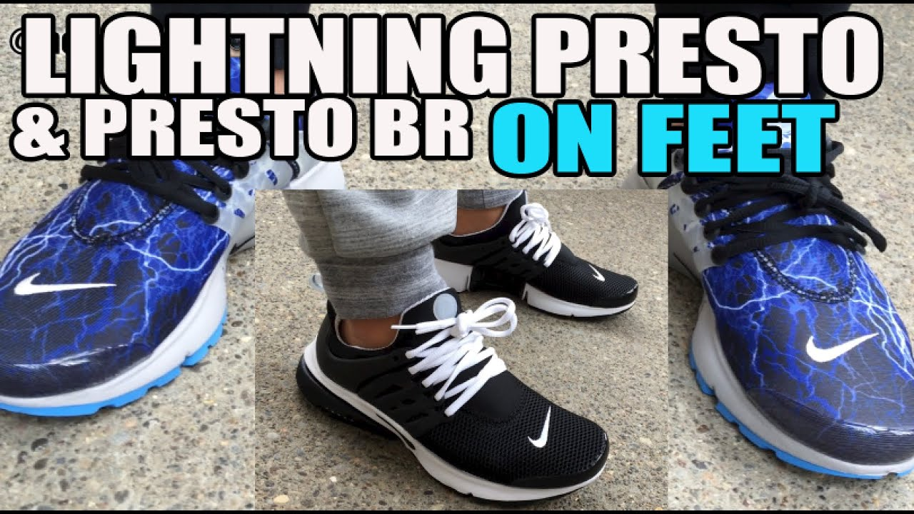new styles e983c 6cf08 How Do Prestos Size  On Feet Lightning   Black BR (Alpha Project)