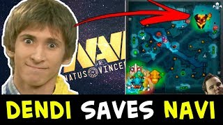 Dendi rat GOD, TI winner move — saving NaVi