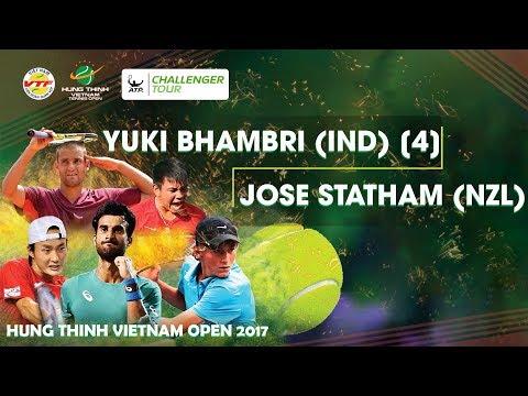 FULL  Yuki BHAMBRI (IND) 2-0 Jose STATHAM (NZL)   VÒNG 1 GIẢI QV QT HƯNG THỊNH VIETNAM OPEN 2017