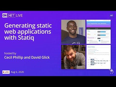 On .NET Live - Generating static web applications with Statiq