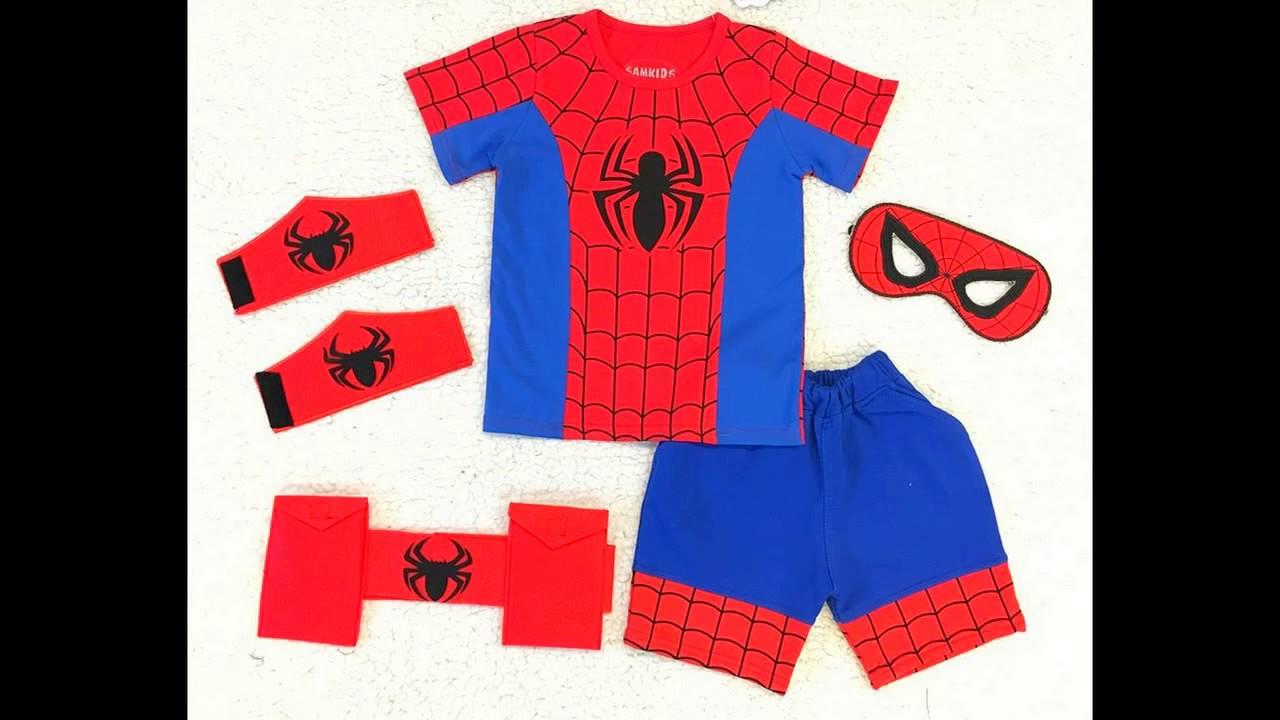 Quần áo siêu nhân nhện cho trẻ em cực đẹp - Cotton 100%