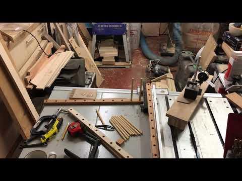 Wooden Tie Rack