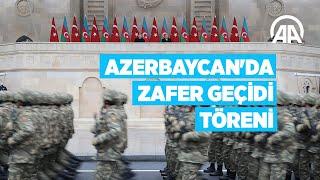 Azerbaycanda Zafer Geçidi Töreni