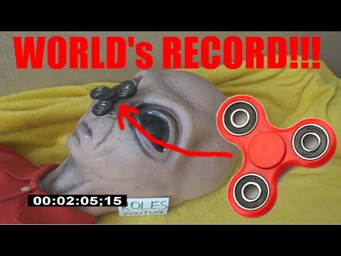 WORLD'S RECORD OF SPINNING FIDGET SPINNER ON ALIEN NOSE