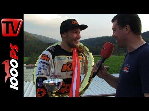 MX ÖM Finale 2014 Kirchschlag Sieger Interview   Michael Kratzer und Manuel Obermair