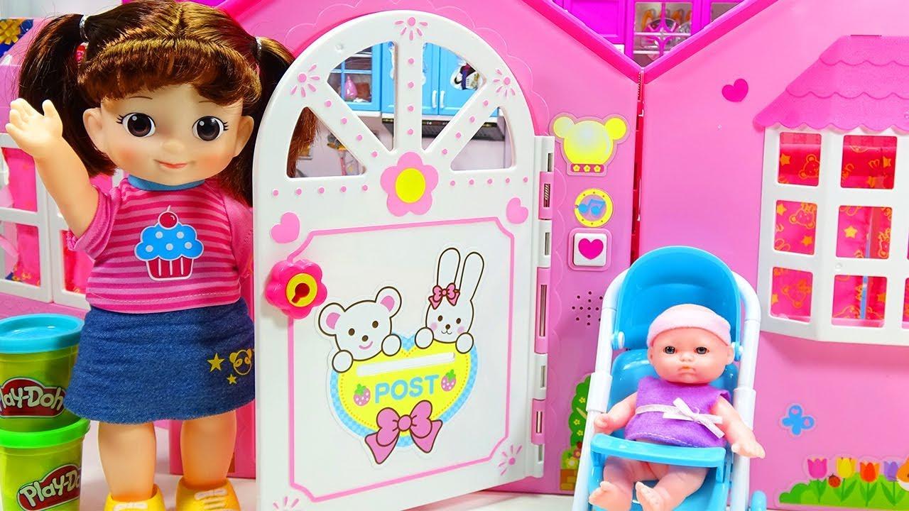 Mainan Boneka Anak Lucu Bermain Rumah Rumahan Dan Masak Masakan Telur Kejutan Mell Chan Youtube