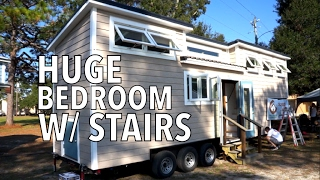 Tour of 33 foot Spacious Tiny house with STAIRS and HUGE Closet