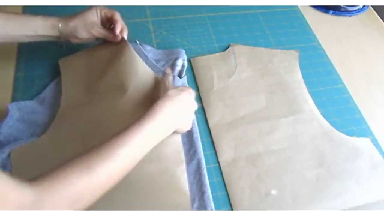 A Very Easy Way To Make T Shirt Pattern Youtube