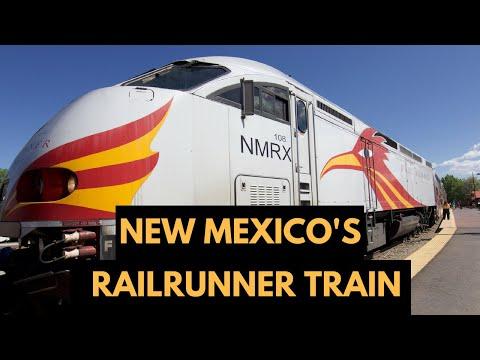 Rail Runner Express Train From Albuquerque To Santa Fe