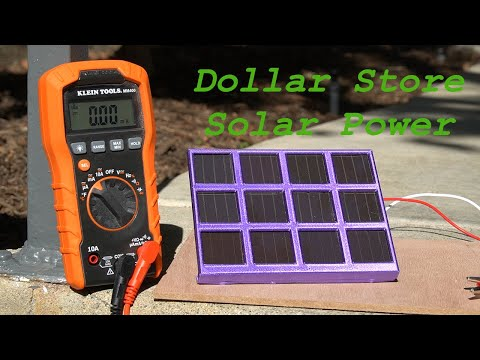I Made My Own Dollar Store Solar Panel