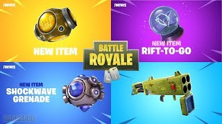 Fortnite All *NEW ITEM* Trailers (Shockwave Grenade, Rift-To-Go, Freeze Trap, Heavy Sniper)
