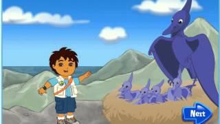 Мультик игра Диего спасает летающих динозавров (Diego's Dino Flyer Rescue)