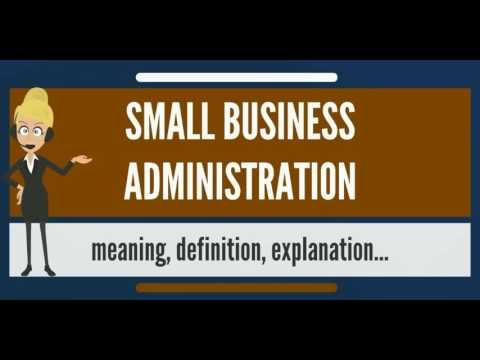 What is SMALL BUSINESS ADMINISTRATION? What does SMALL BUSINESS ADMINISTRATION mean?