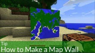 Minecraft Jak Zrobić Wielką Mapę Na ścianie Youtube