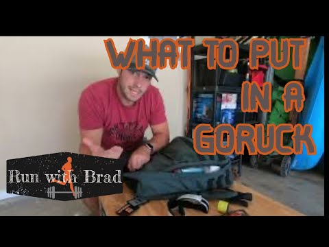 What To Put In Your GORUCK Rucker