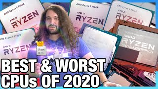 Best & Worst CPUs of 2020 (Gaming, Workstation, Coding, Overclocking, & Disappointment)
