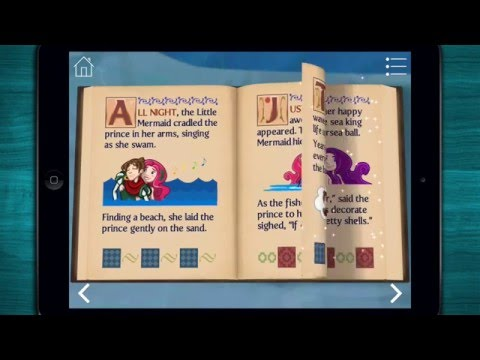 ♣ The Little Mermaid ~ 3D Interactive Popup BookStoryreading  iPadiPhoneAndroid