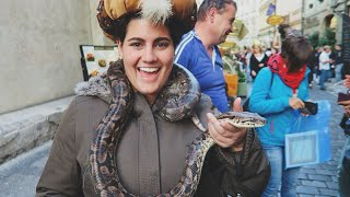 Making friends with a snake in Prague!   HeyyItsPaulie [PRAGUE 2015]