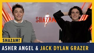 Asher Angel and Jack Dylan Grazer Talk SHAZAM!