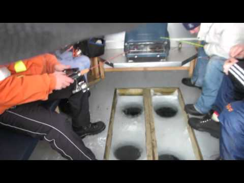 Ice Fishing On Lake Simcoe, Ontario Feb 8th 2014