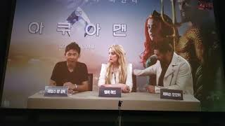 [아쿠아맨] AQUAMAN SEOUL 라이브 컨퍼런스 James Wan, Jason Momoa, Amber Heard