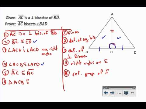 Triangle Proof Example 4 - YouTube