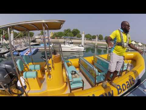 Yellow boat tours Abu Dhabi  Cliff&Nova