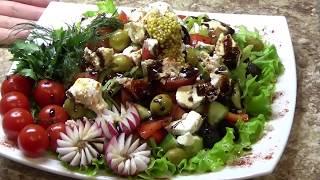 Салат греческий с Гранатовым Соусом Ресторан Дома