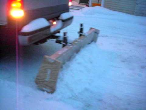 homemade plywood truck plow 2 - YouTube