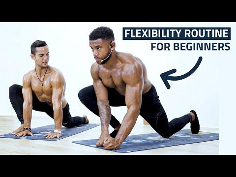 Bodybuilder Tries Yoga (Flexibility Routine for Beginners) - Ft. Austin Dunham