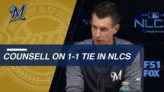 NLCS Gm3: Counsell on Chacin, preparing for Game 3