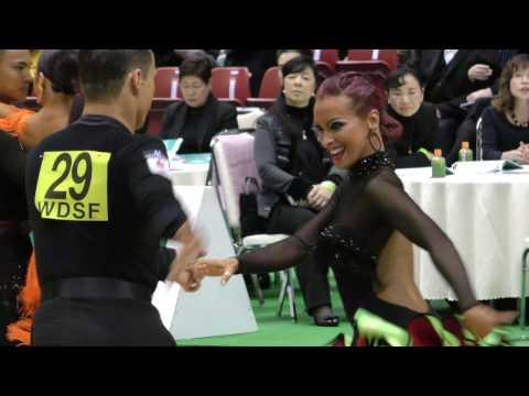 4K 2017 WDSF World Open Latin in Tokyo | Marius Andrei Balan - Khrystyna Moshenska, GER | CHACHACHA