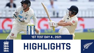England vs New Zealand 1st test 4th day 2021 highlights
