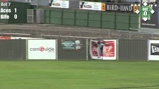Outfield Fence Collapse Australian Baseball League