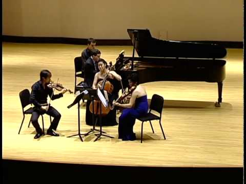 Dvorak Piano Quartet in E-flat major, Op. 87 (Ravinia Steans Music Institute)