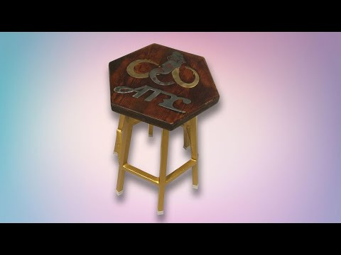 steel shop stool build