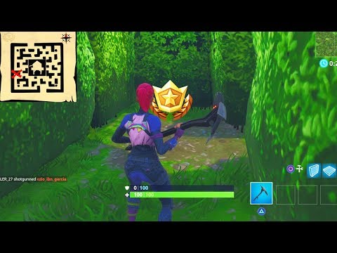 """Follow the treasure map found in Retail Row"" Location Fortnite Week 7 Challenges!"