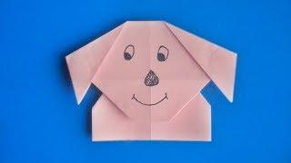 оригами собака, как сделать оригами собаку из бумаги // origami paper dog