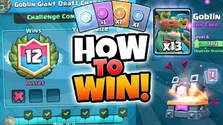 NEW 12 WINS GOBLIN GIANT CHALLENGE GAMEPLAY! | Clash Royale | HOW TO WIN NEW GOBLIN GIANT CHALLENGE