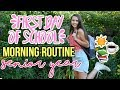 FIRST DAY OF SCHOOL MORNING ROUTINE! GRWM: FIRST DAY OF SENIOR YEAR