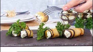 баклажаны на закуску с творогом и чесноком