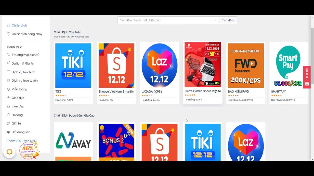 Hướng dẫn sử dụng nền tảng liên kết tiếp thị Accesstrade phiên bản mới nhất tháng 12 năm 2020