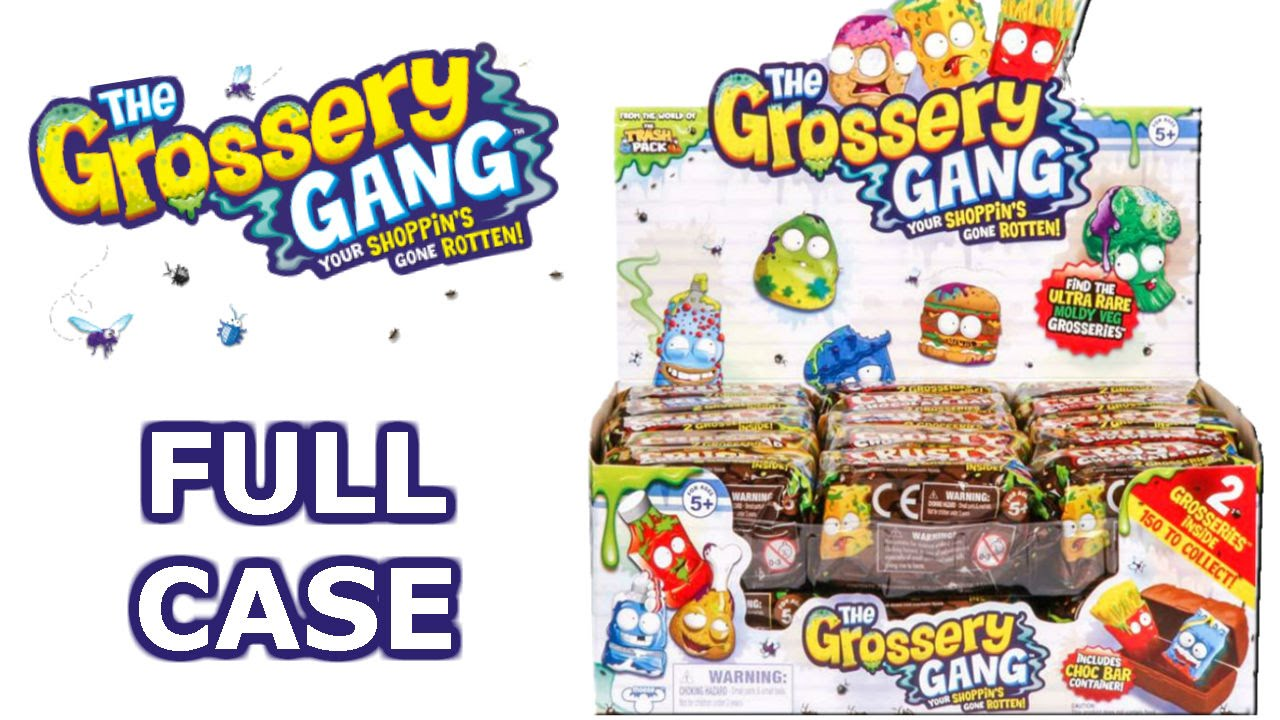 The Grossery Gang Full Case Unboxing Crusty Chocolate Bars