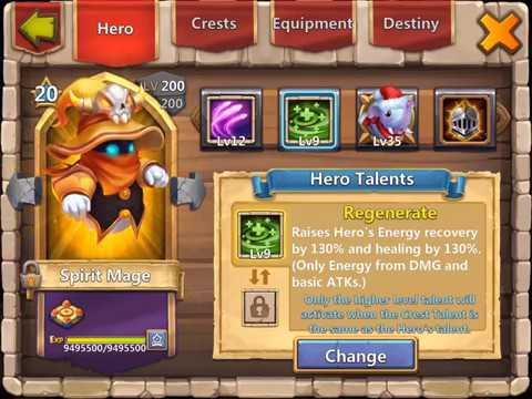 Breakthrough 20 Spirit Mage: The Arena Champion | The Heroes | Castle Clash