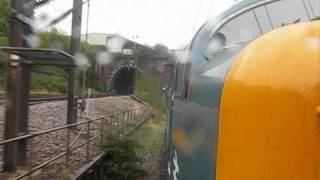 Deltic 55022 Powers Out of Kings Cross 11th Sept 2010