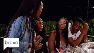 RHOA: Porsha Williams Claims Kandi Burruss Wanted to Drug Her (Season 9, Episode 15) | Bravo