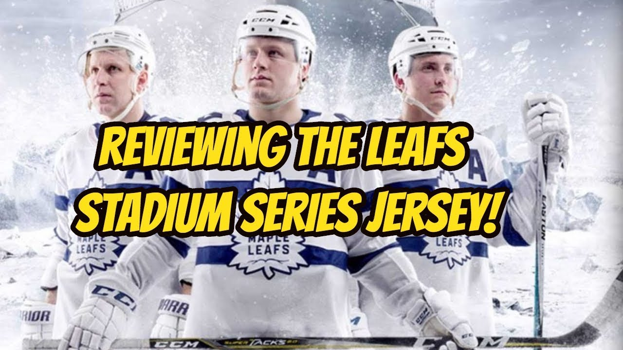 new concept 14028 9a744 Reviewing the Toronto Maple Leafs Stadium Series Jersey!