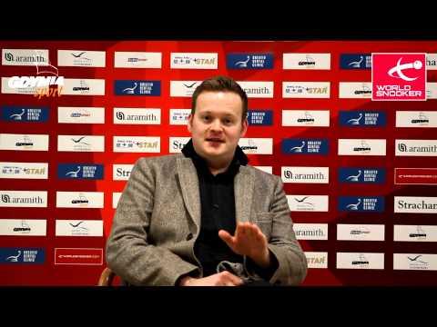Gdynia Open 2015, day 2, Shaun Murphy interview